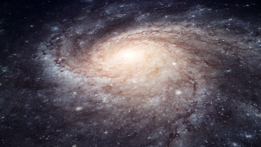 Rotating spiral galaxy - deep space exploration  #3082813