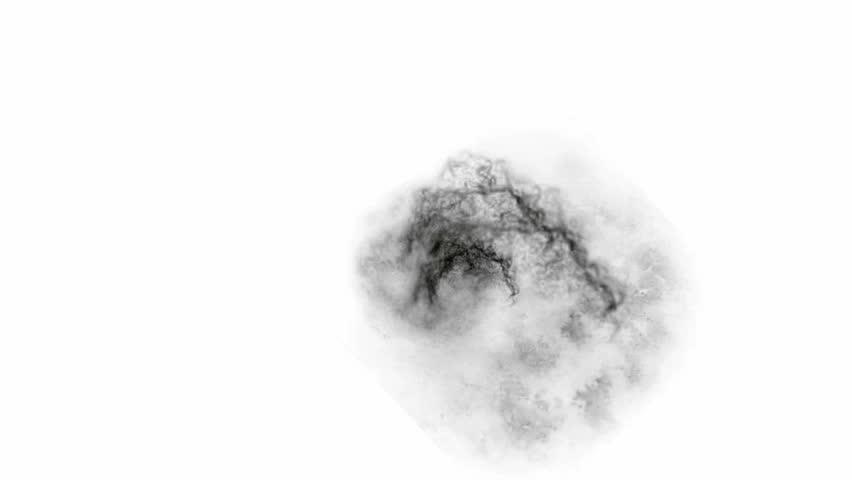 3d Smoke Explosion, Shockwave Effect Stock Footage Video