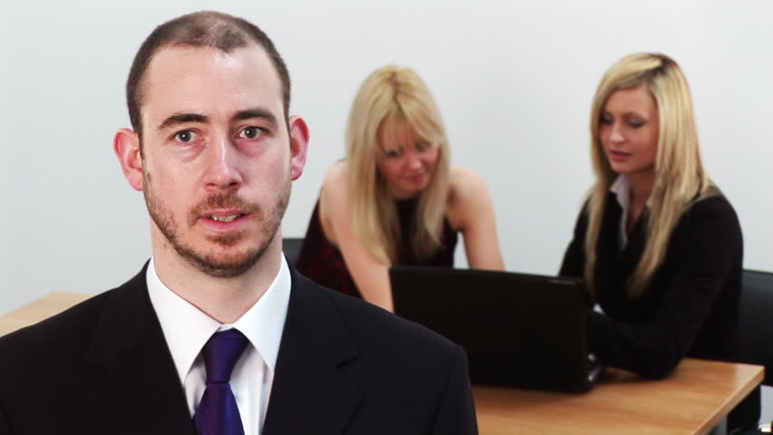 Businessman at work  - HD stock footage clip