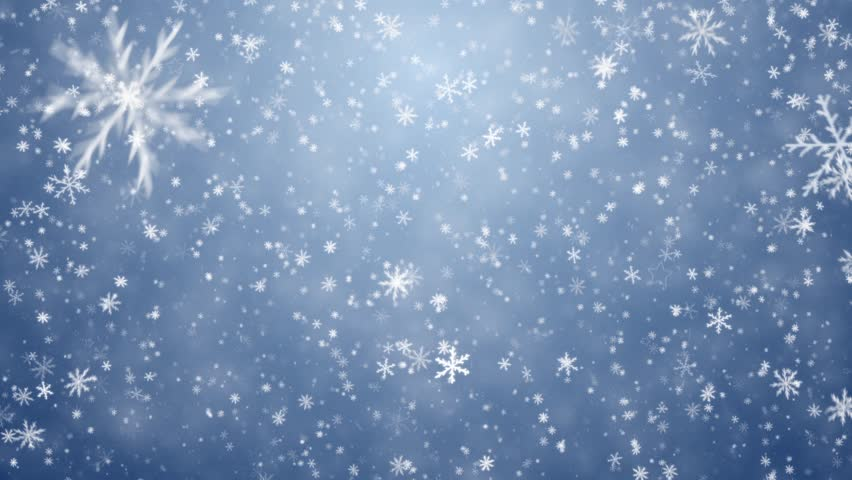 winter christmas background falling snowflakes and stars