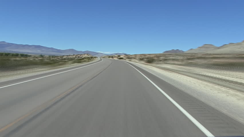 Fast time lapse POV of driving from Alamo, Nevada on Highway 93 to the