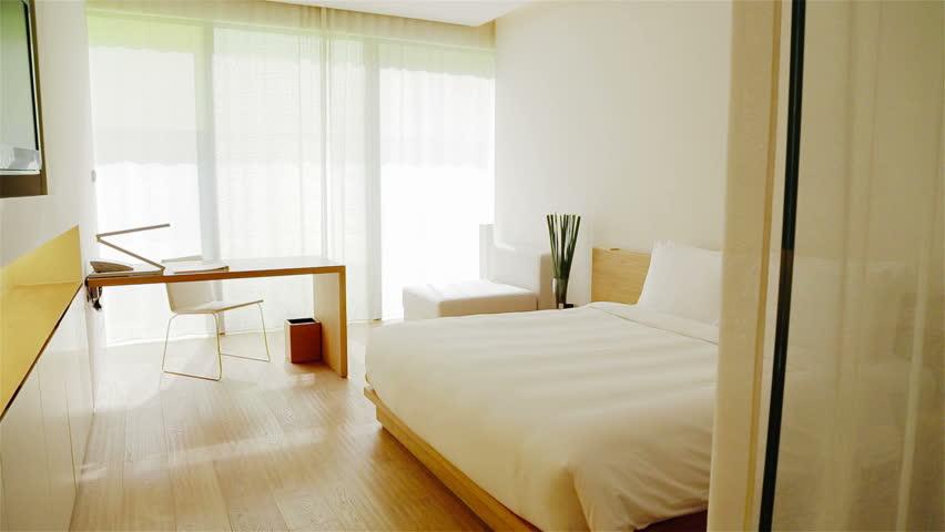 Luxury Apartment Interior. Track shot of a luxury apartment interior