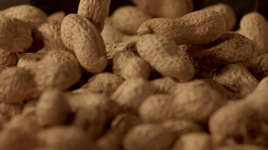 peanuts falling in slow motion