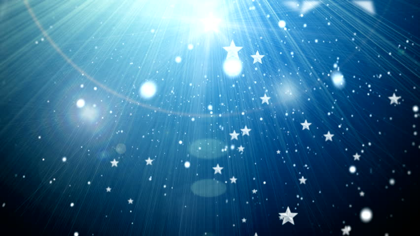 Star and snowflake and flashes background ( Series 3 - Version from 1 to 6 ) - HD stock video clip