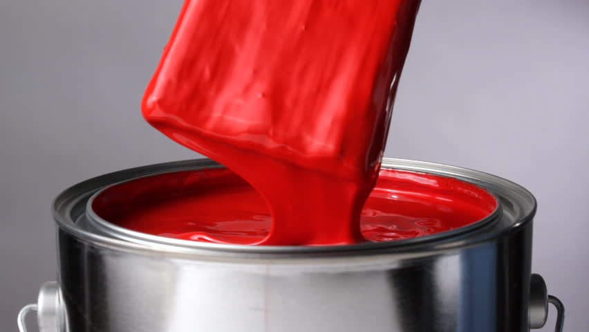 Dripping red paint