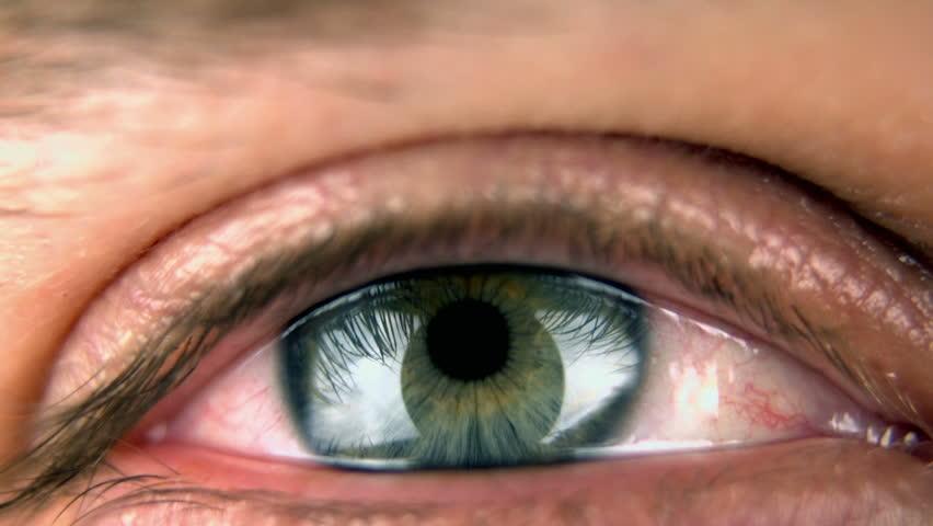 Super 35mm camera - Closeup of an blue/green eye | Shutterstock HD Video #3179104