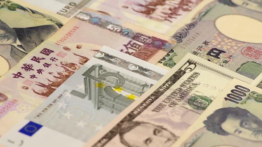 Euro, US dollar, Japanese Yen, New Taiwan Dollar