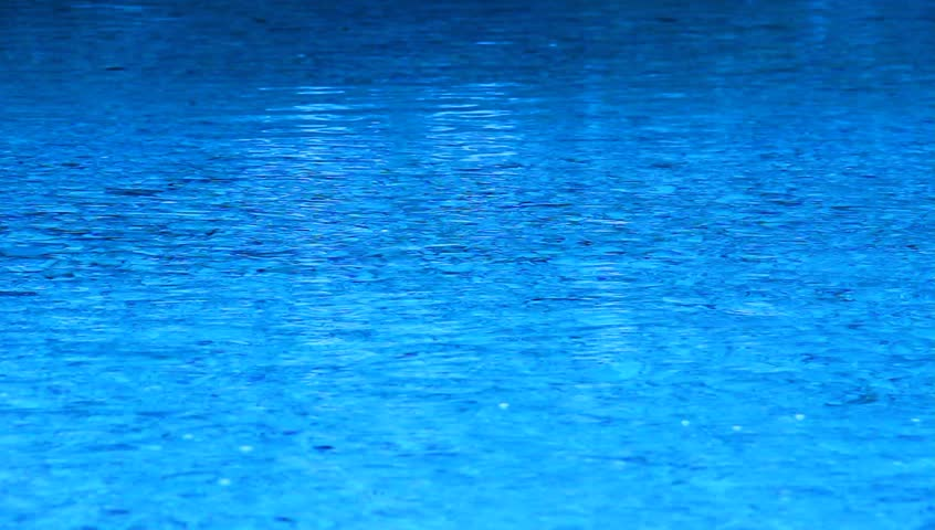 Blue Tinted River Stream Fro Background Stock Footage
