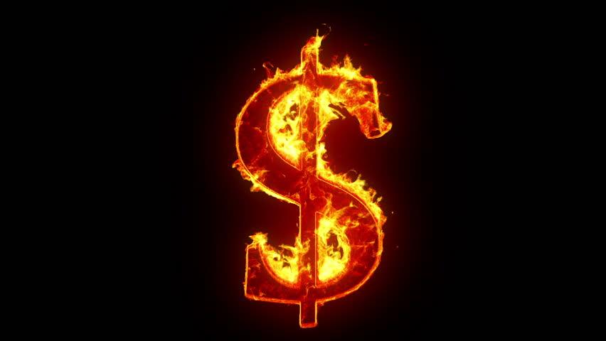 burning dollar sign stock footage video 3190618 shutterstock