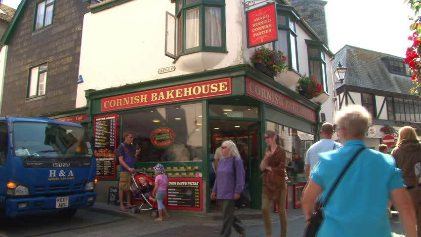 LOOE, ENGLAND - CIRCA 2011: Cornish bakehouse and pasty shop in East Looe.