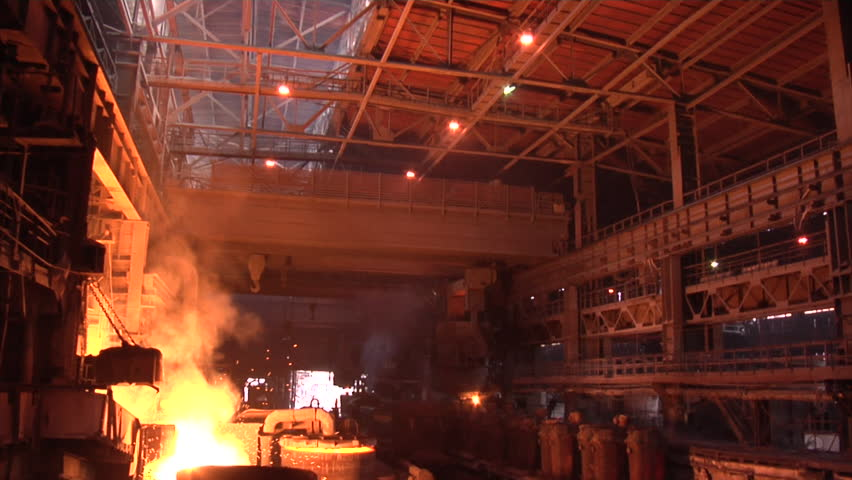 Metallurgical Plant. Plant for the smelting and rolled metal. Mining and metal forging in Ukraine. - HD stock video clip