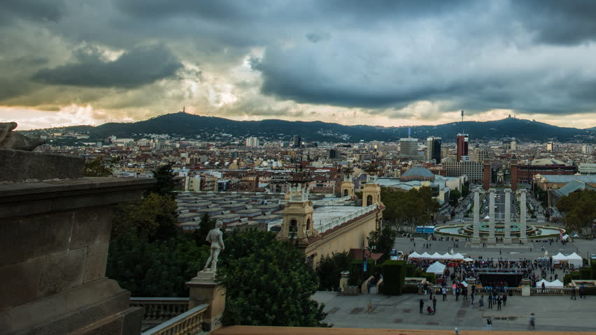 BARCELONA-OCTOBER 29: View of Plaza De Espana during day, on October 29, 2012,