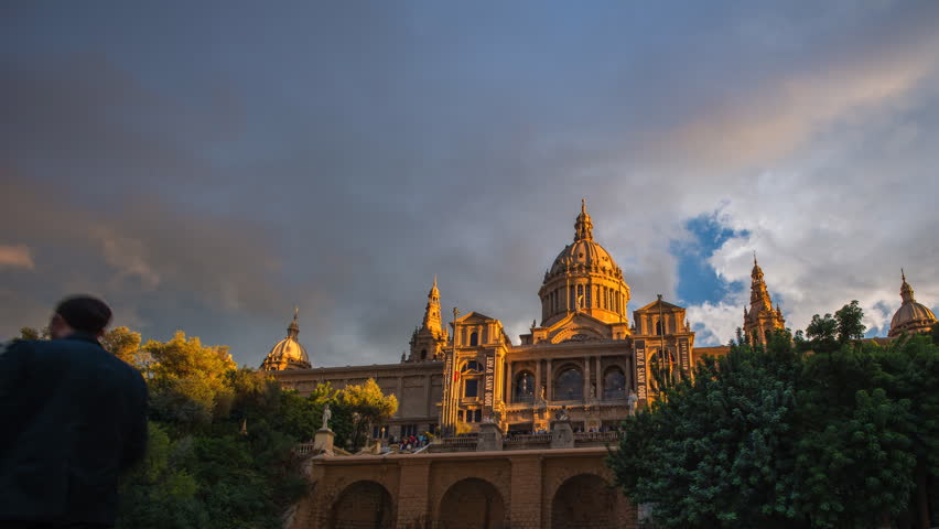BARCELONA - OCTOBER 28: View of Catalunya National Museum of Art , on October