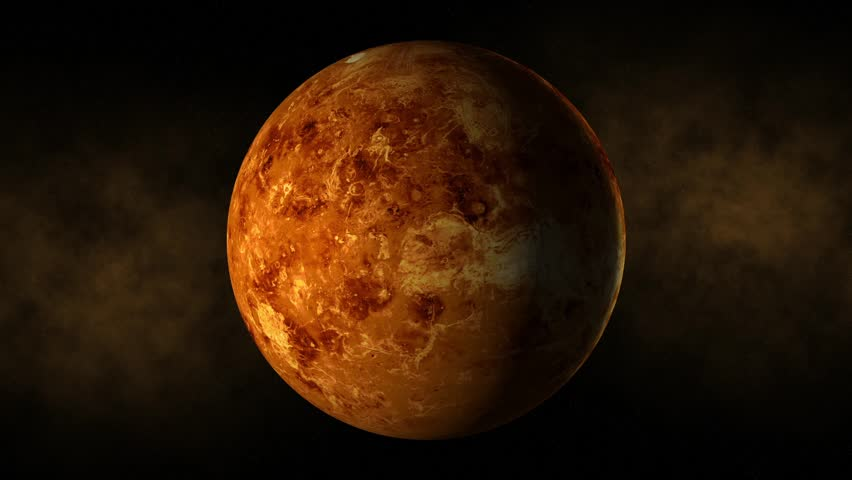 Planet venus space, stars - HD stock footage clip