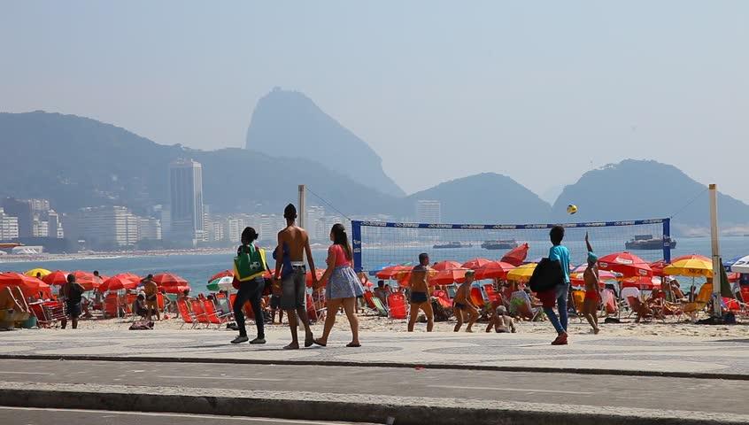 RIO DE JANEIRO, BRAZIL - DECEMBER 31: Summer in the city of Rio de Janeiro on