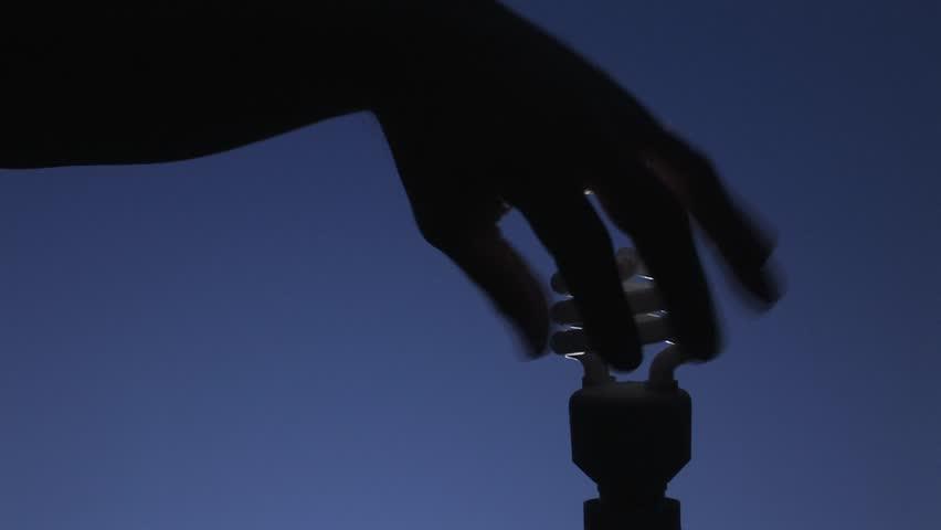 Energy saving lamp - HD stock video clip