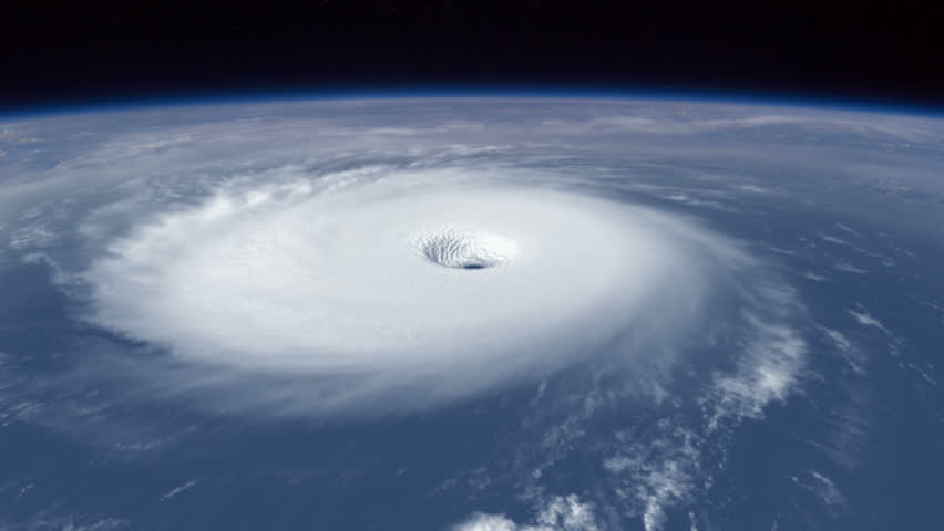 Hurricane: Over the Eye An amazing view over the eye of a hurricane.  Highly-detailed 3d animation created in MAYA.