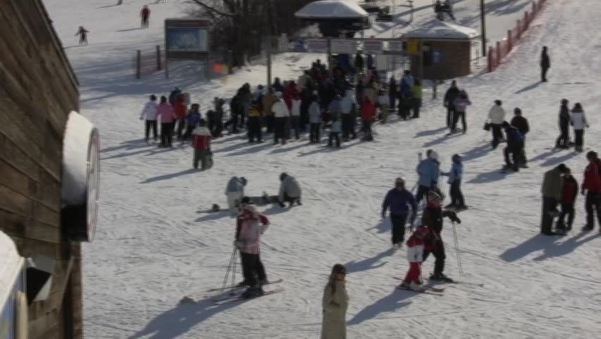 Video of snow ski slopes park city utah in the wasatch