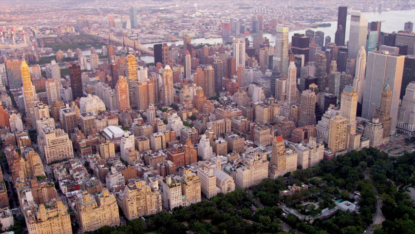 Aerial View Of Upper East Side Manhattan Queens East