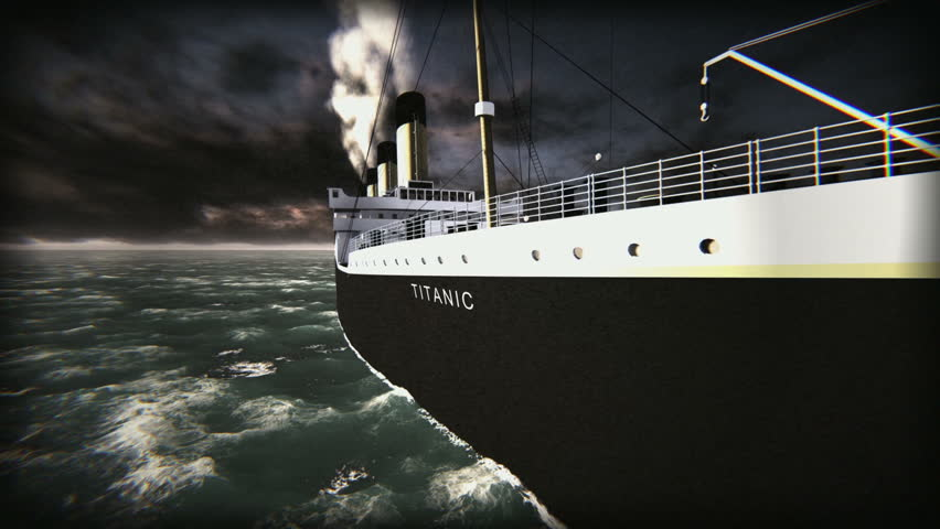 Titanic ship - old movie
