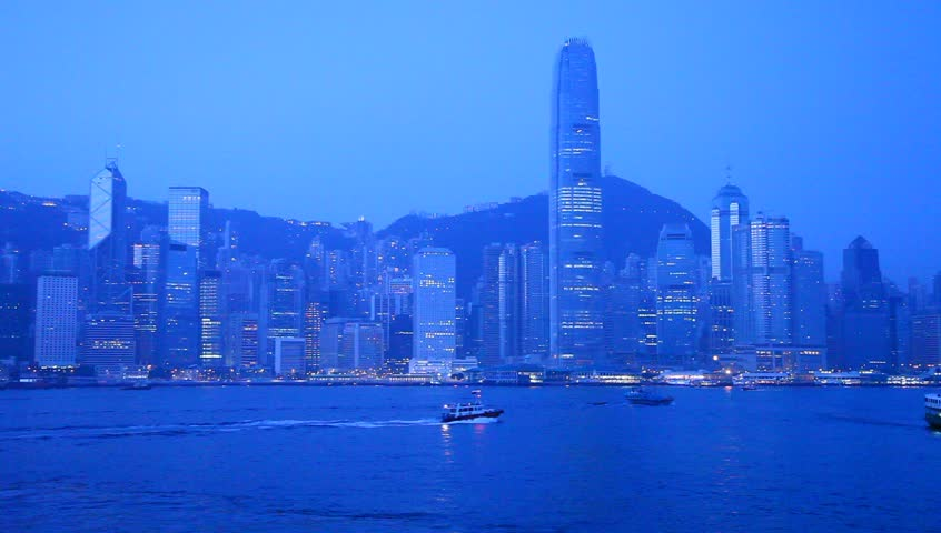 HONG KONG - JAN 4: View of modern skyscrapers in downtown Hong Kong, China on January 4, 2013. Hong Kong is an international financial center that has 112 buildings that stand taller than 180 meters | Shutterstock HD Video #3250789