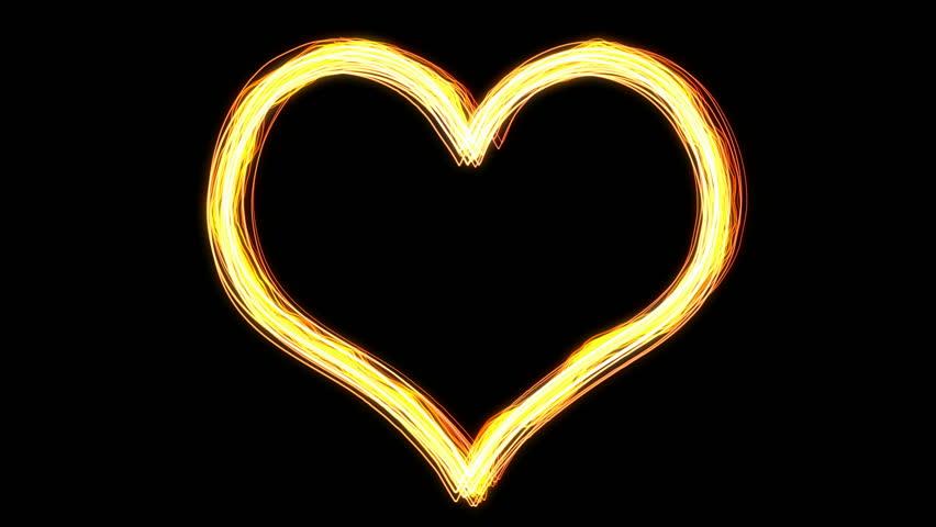 Illuminate heart light - HD stock footage clip