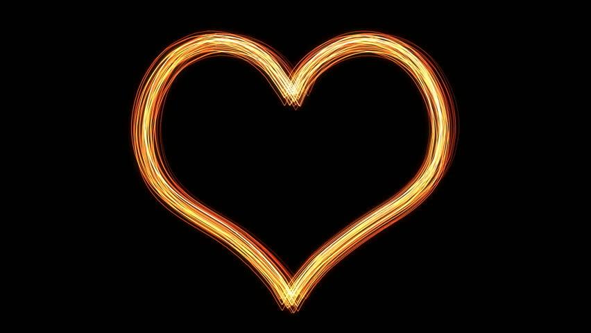 Illuminate heart light - HD stock video clip