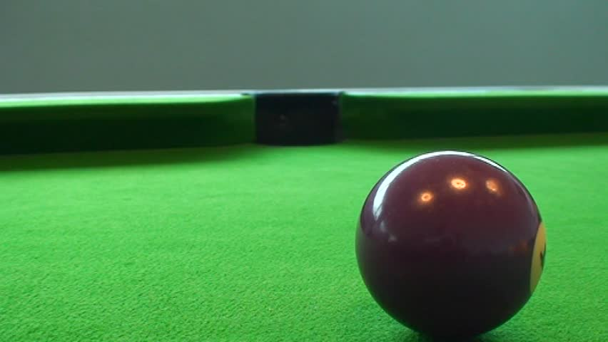 Tracking shot of purple pool ball - SD stock video clip