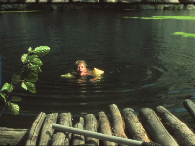 Vintage 8 Mm Film Children Swimming In Lake Stock Footage Video 3380354 Shutterstock