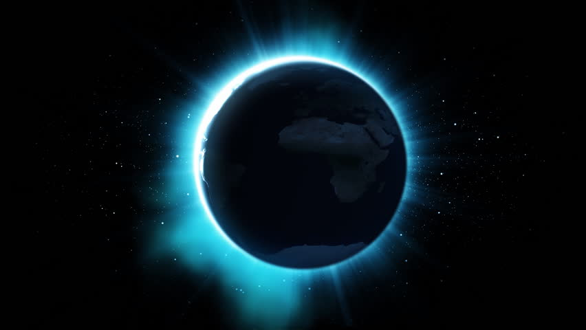 eclipse of sun - HD stock footage clip
