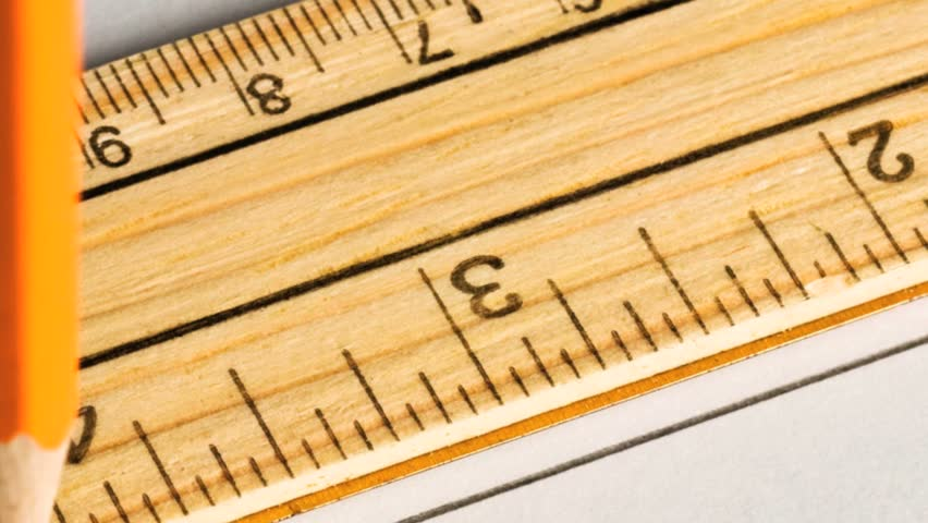 Drawing Lines Using A Ruler : Pencil drawing a straight line with ruler stock footage