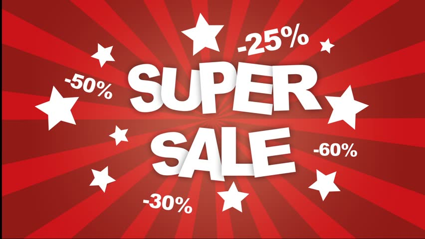 Super sale animation. Ready for use. Just play it on your screen and it will attract new customers.
