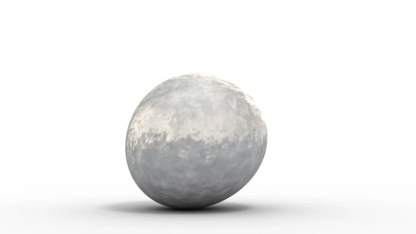 rolling metal ball morphs into a soccer ball. 3d animation with an alpha matte