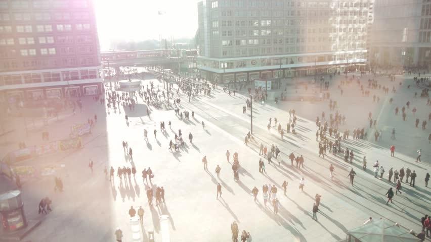 people walking on street HD