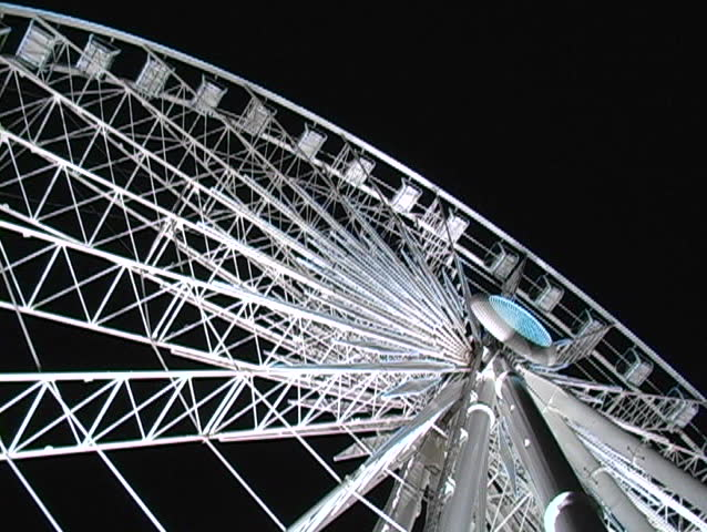 Ferris wheel at night in Niagara falls - SD stock footage clip