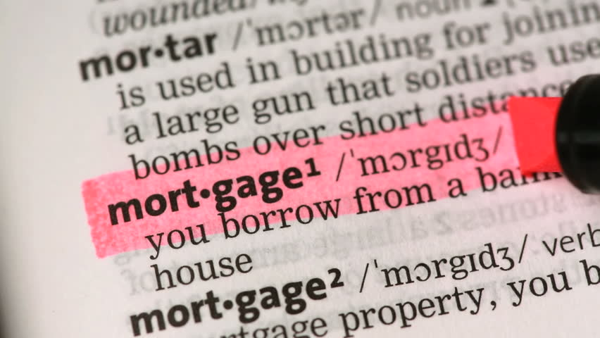 Definition Of Mortgage Highlighted In The Dictionary Stock Footage Video 3538535 - Shutterstock