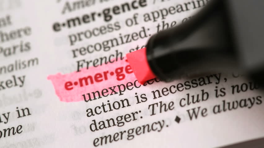 definition of emergency highlighted in the dictionary stock footage video 3538607 shutterstock. Black Bedroom Furniture Sets. Home Design Ideas