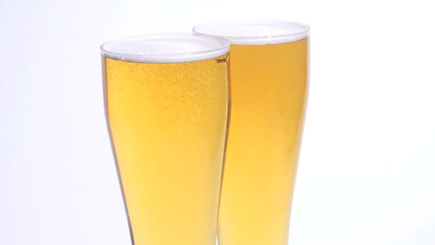 Beer Glasses rotate - HD - HD stock video clip