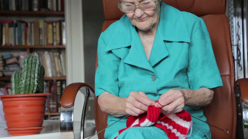Old Knitting Woman : Old woman knitting stock footage video  shutterstock