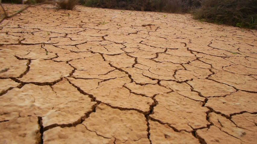 Cracked Dry Land In A Desert Stock Footage Video 3586412 ...