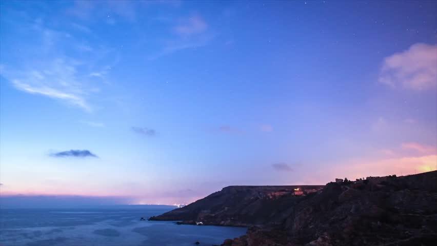 Cliffs at Night