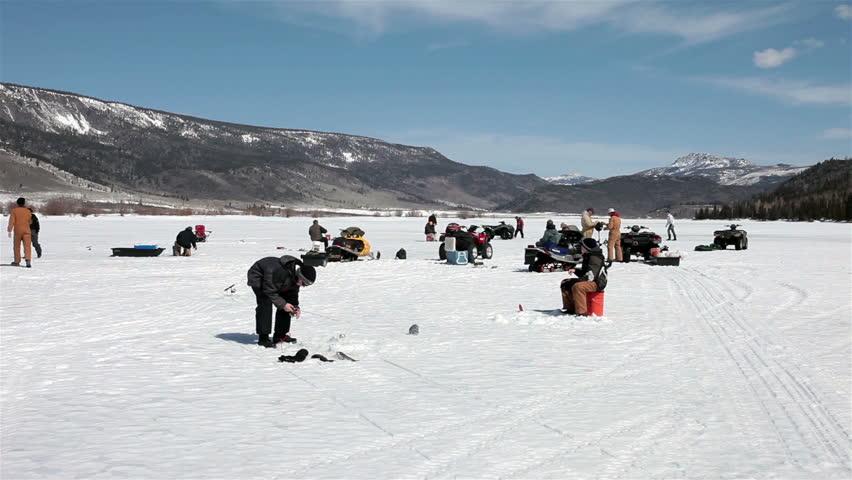 Provo utah dec 2013 winter recreation in mountain river for Utah game and fish