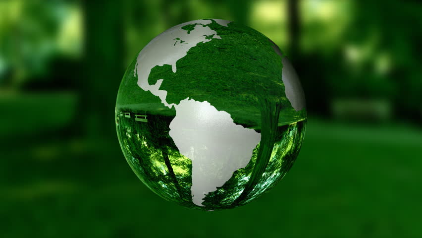 Earth Globe made of glass,environmental conservation concept,nature
