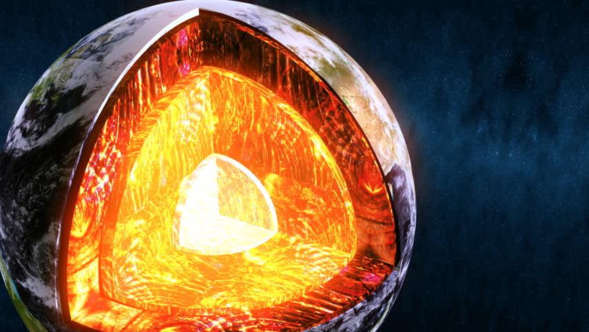 earth shown core graphic