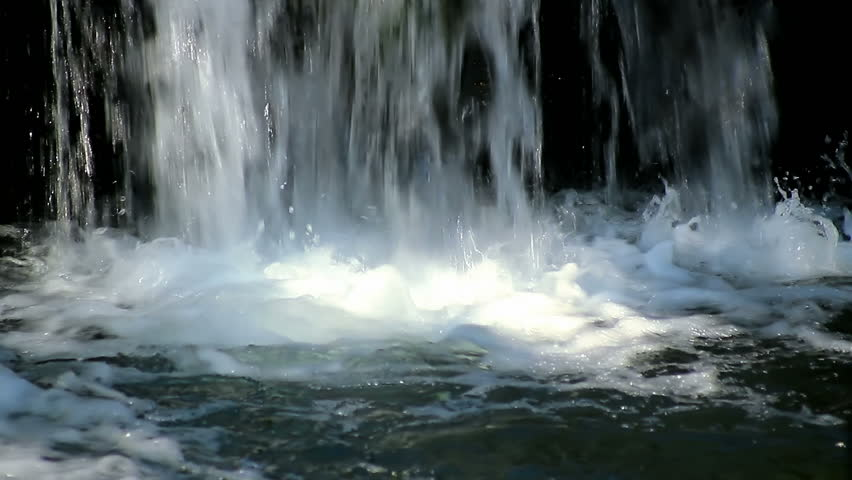 cascading water in motion - HD stock video clip