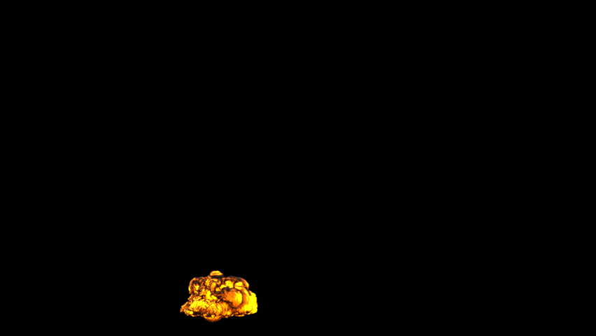 Beautiful dense explosion isolated on black background  (HD, 1080p, high definition with alpha)