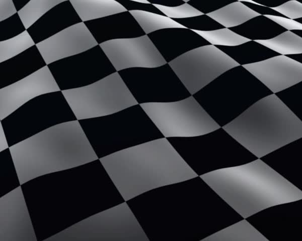 Waving Checkered Racing flags - SD stock footage clip