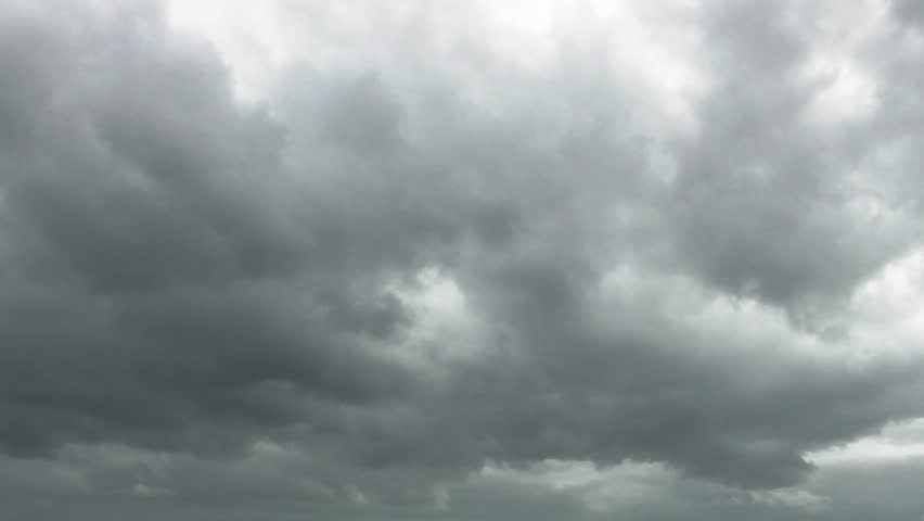 Heavy Rain Clouds Before A Storm