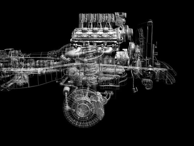 Engine - SD stock video clip