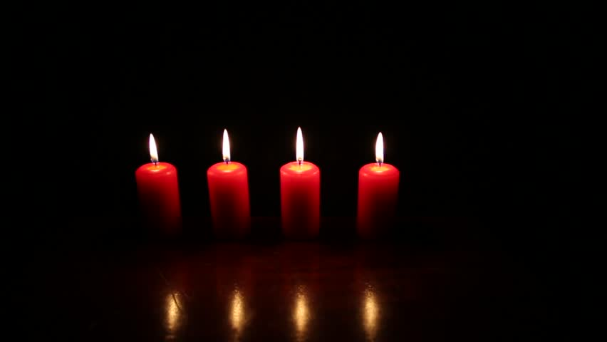 Red Candles With Black Background Stock Footage Video ...